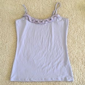Purple Top with beautiful design from The Limited